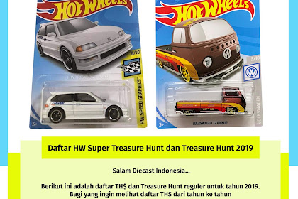 Daftar Hot Wheels Super Treasure Hunt dan Treasure Hunt 2019