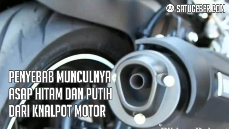 gambar perbaiki knalpot motor keluar asap putih hitam