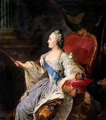 Empress Catherine the Great by Fyodor Rokotov, 1763