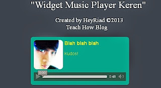 Music player diblog