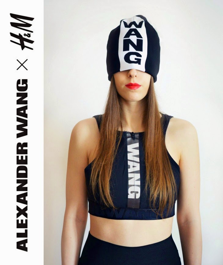 Alexander Wang x H&M designer collaboration full collection pictures photos Sport Bra with cut-out sections at back zip with reflective tape and logo at front Jacquard-knit hat beanie with logo thesparklingcinnamon francesca margariti