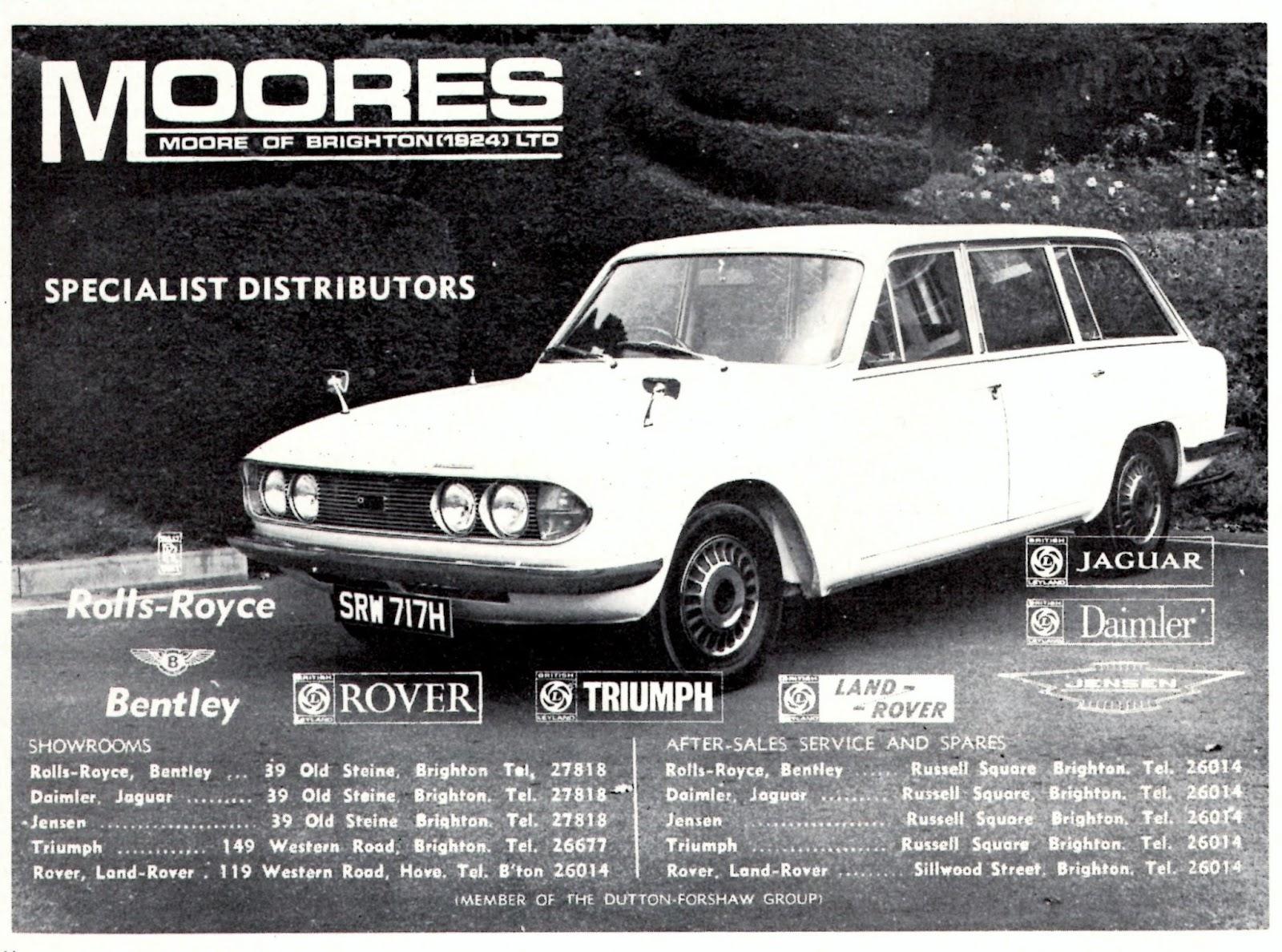 Vitessesteve - blog: Moores of Brighton Limited - Triumph car dealers 14