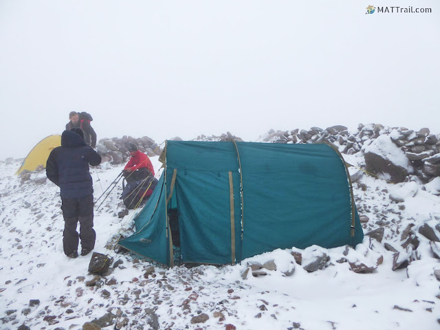 The second camp in the morning, Kazbek, www.MATTrail.com