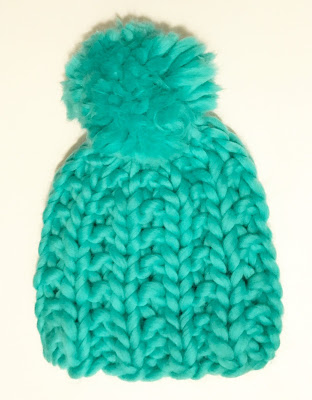 STATEMENT KNIT HAT - MINT