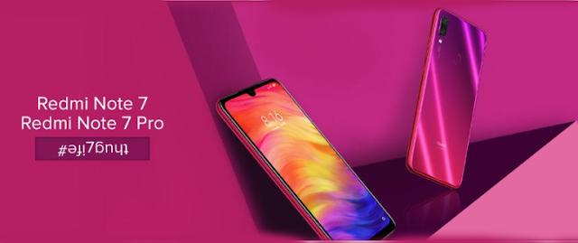 Redmi Note 7,Redmi Note 7 Pro india price,features