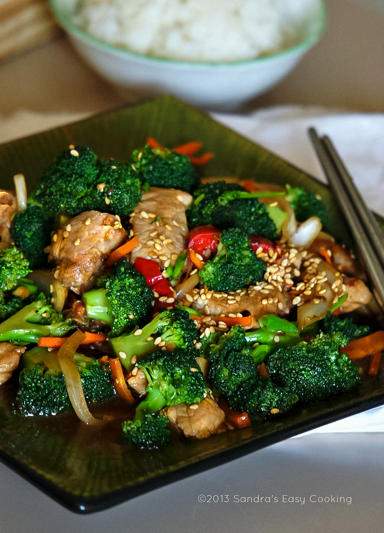 Chinese broccoli and pork tenderloin stir fry sandras easy cooking simple and easy recipe for chinese broccoli and pork tenderloin stir fry forumfinder Choice Image