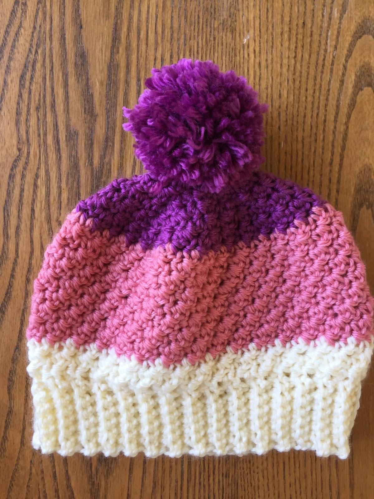 Skein And Hook Free Crochet Pattern Greene Pom Pom Hat