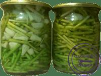 Зеленый чеснок маринованный