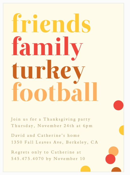 Thanksgiving Invitation