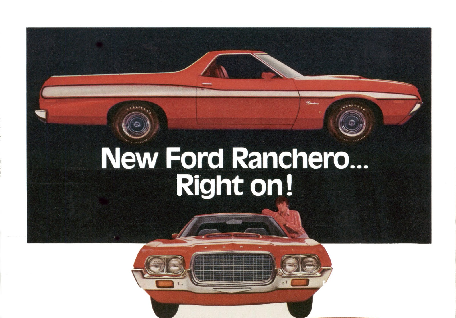 The Ranchero GT model was the new focus for mid size Ford muscle parts.  Starting in 1972, Ford gave equal air time to the Ranchero GT as they did  with ...
