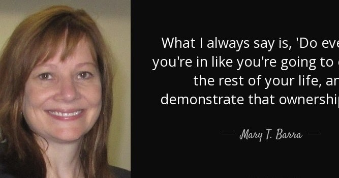 Bootstrap Business Mary Barra Quotes