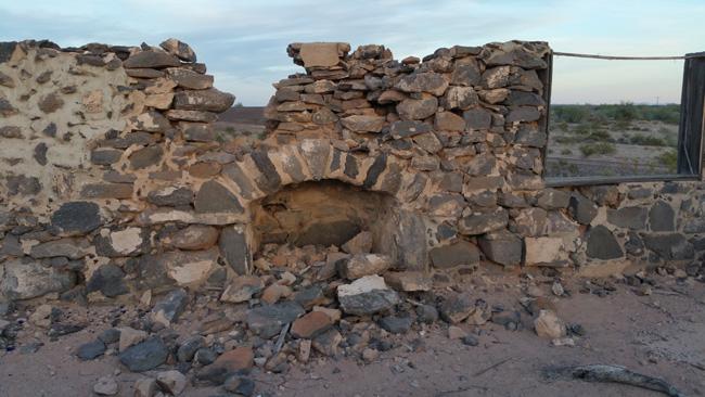 Urban Exploration of Buffalo Bill Cody Abandoned Stone House Ruins in Dateland, Arizona