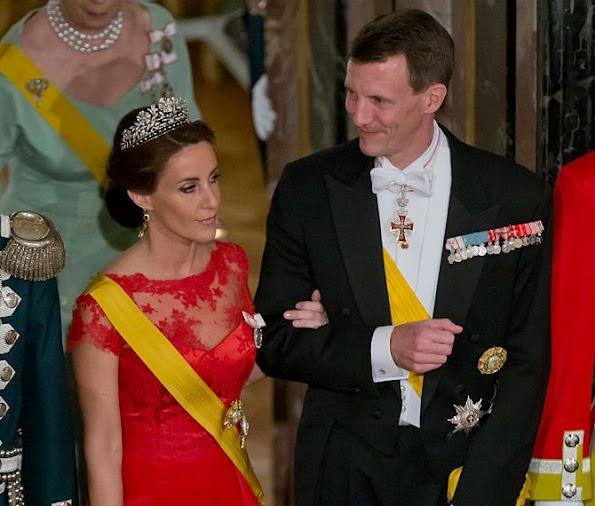 Prince Joachim and Princess Marie of Denmark attend a State Banquet at Fredensborg Palace