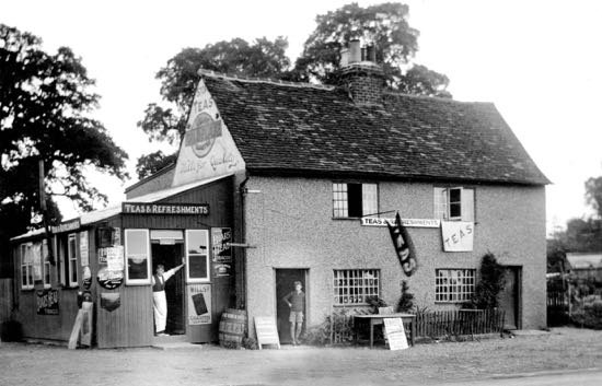 Water End Cafe in the 1930s Image from Peter Miller, part of the Images of North Mymms Collection