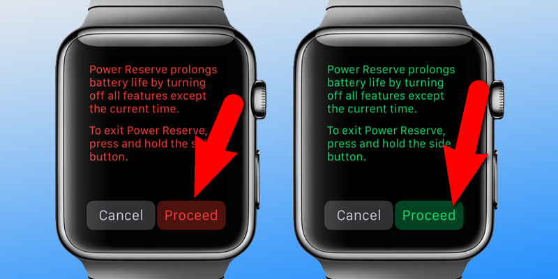 Turn On Power Reserve on Apple Watch