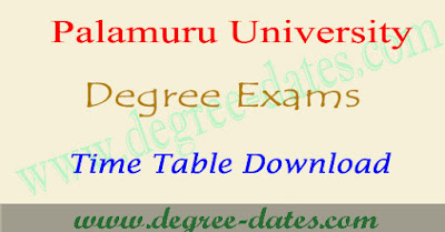 Palamuru University degree exam time table 2019 pu ug exam dates