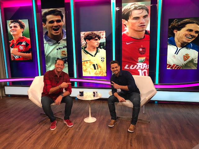 Ex-jogador Sávio grava 'Aqui com Benja' e revela pressão parar usar a camisa 10 do Flamengo