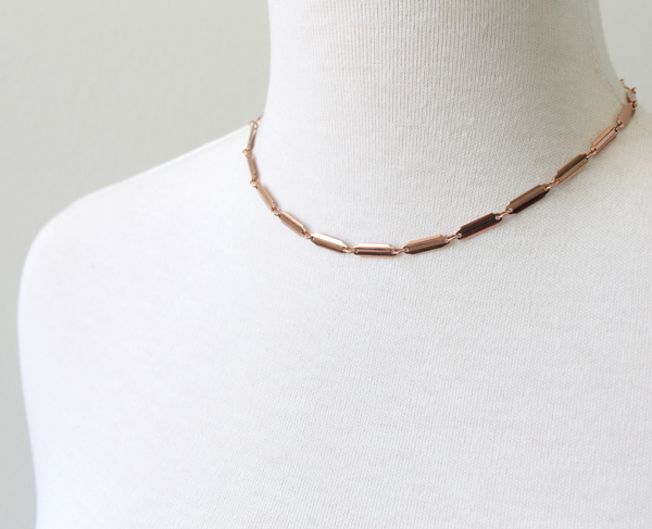 multi bar rose gold choker necklace