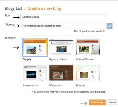 The best way to make a blogger blog starting with no outside help