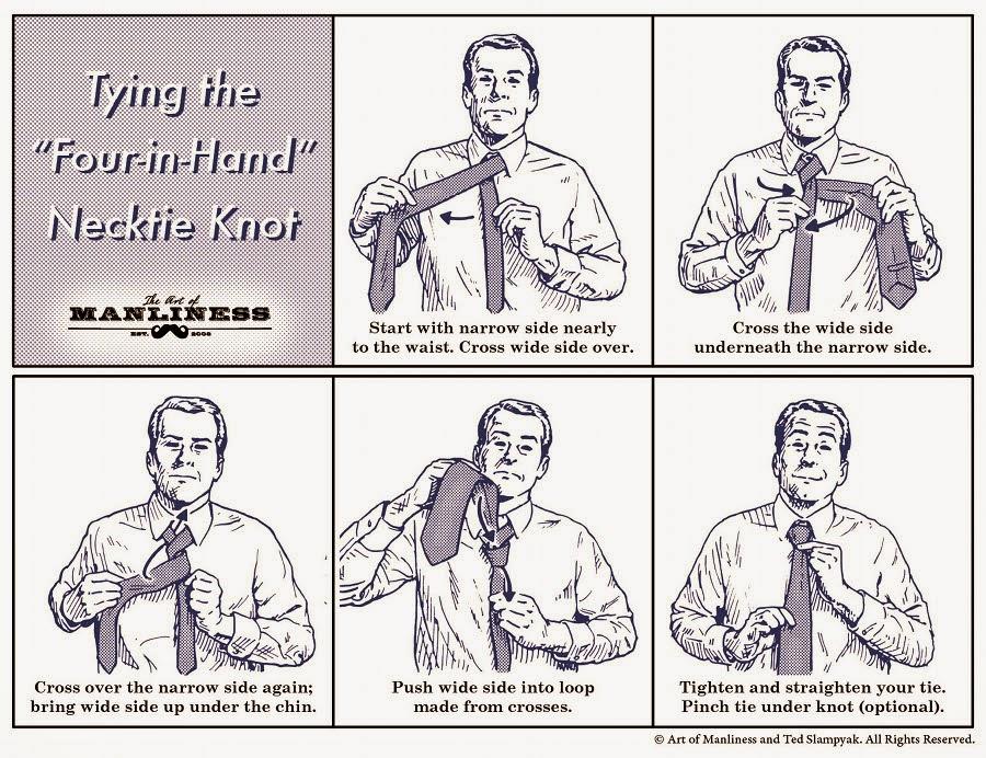 como hcer el nudo de una corbata