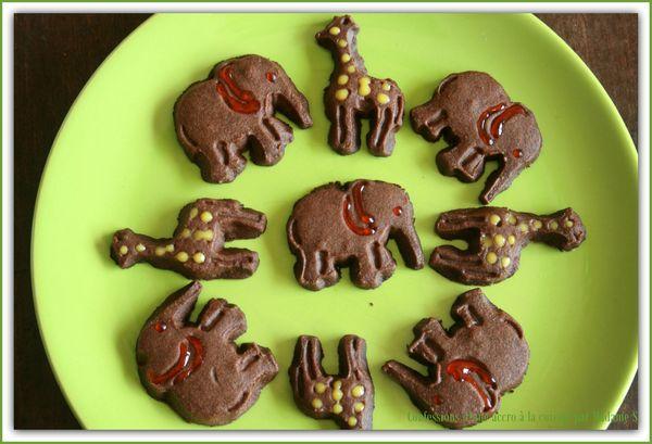 éléphants et girafes en chocolat