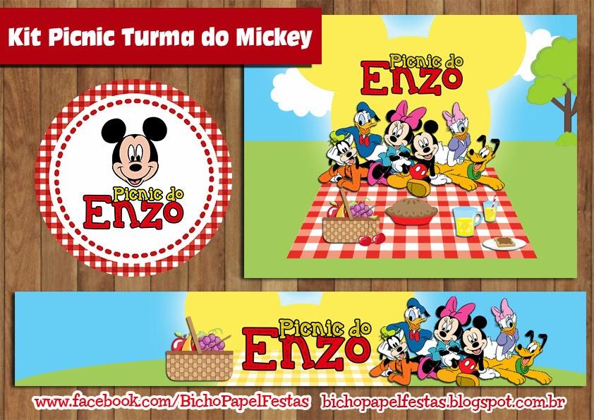Kit Picnic Turma do Mickey