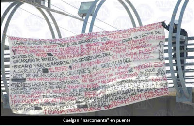 Another banner signed by CJNG-CTNG hung in Tijuana
