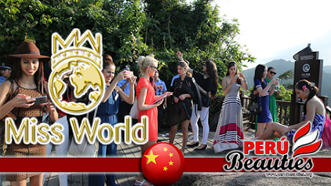 The contestants are visiting various scenic places across Hainan island - Miss World 2015