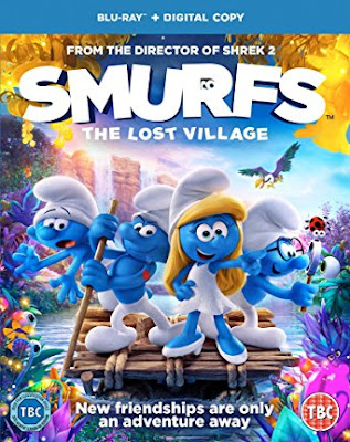 Smurfs The Lost Village 2017 Dual Audio ORG 720p BRRip 500Mb ESub HEVC x265