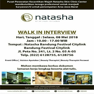 Lowongan Kerja Natasha Skin Care Bandung Terupdate 2019