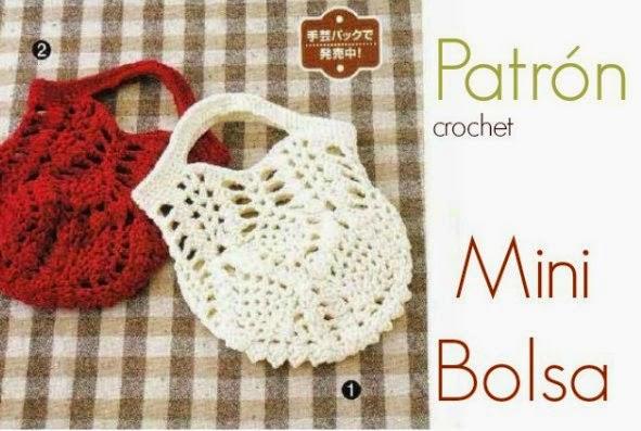 9a69480bd Mini Bolsita de Crochet Patron - Patrones Crochet