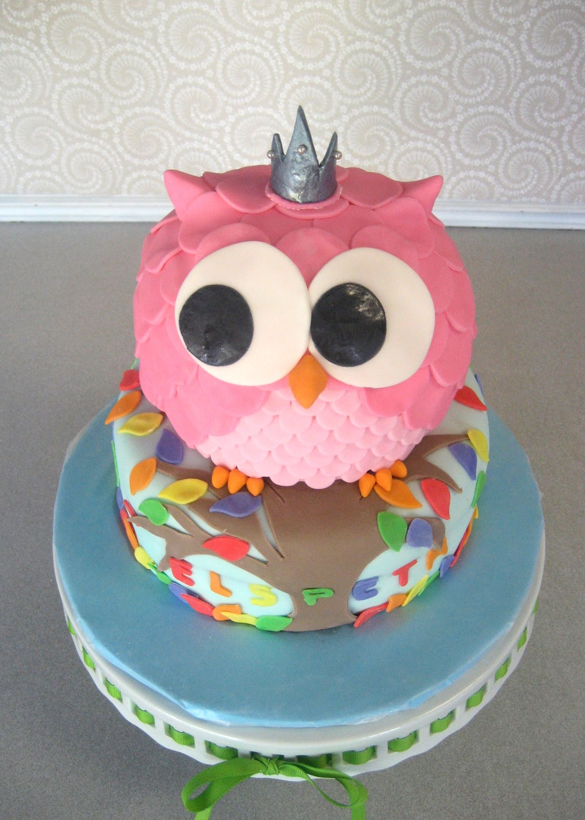 Devanys Designs Princess Rainbow Owl Cake