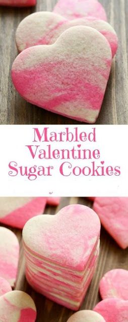 Marbled Valentine Sugar Cookies