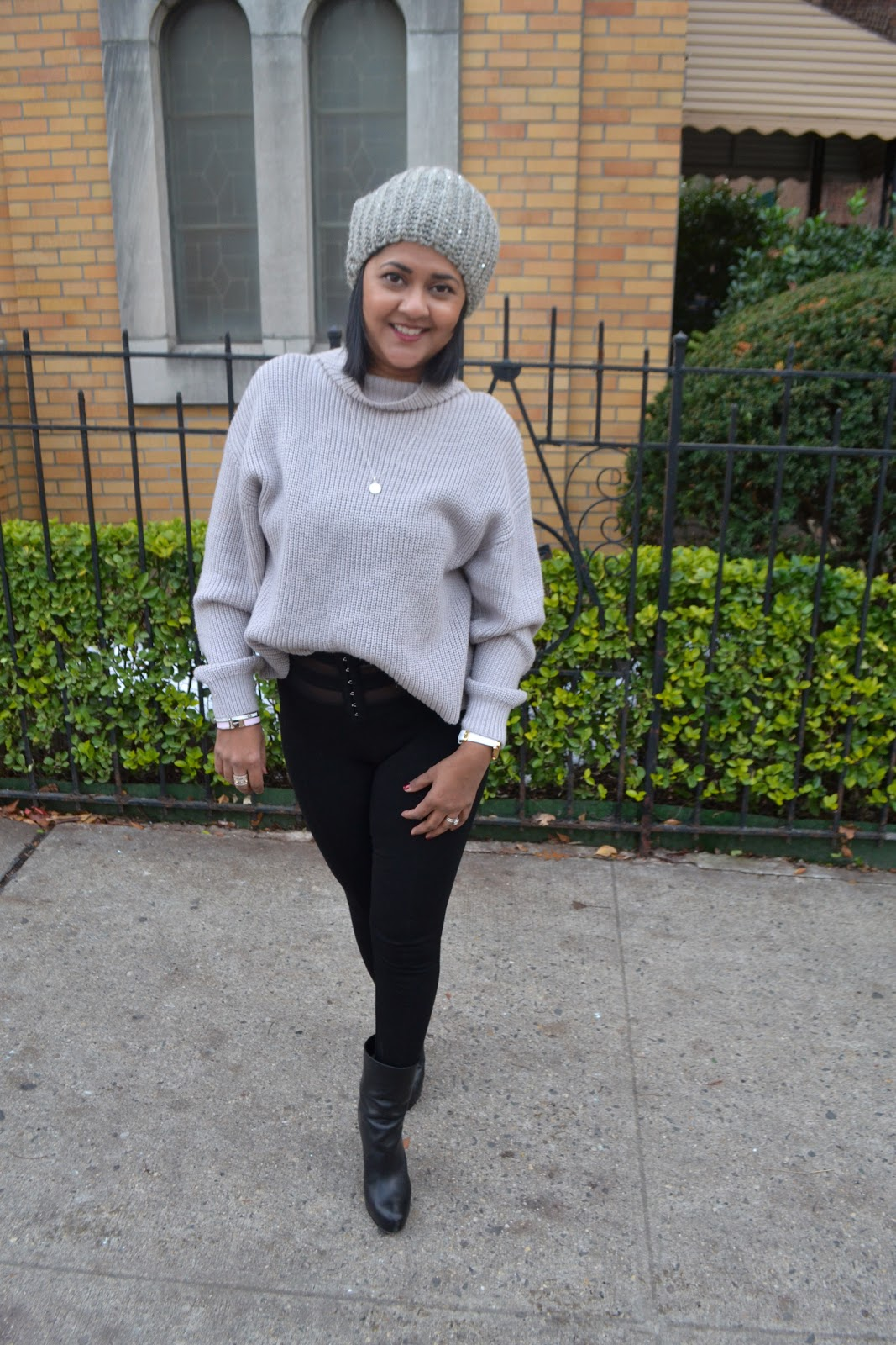 Grey sweater for winter