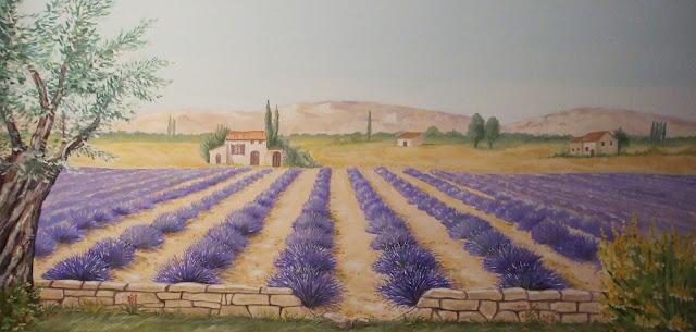 trompe-l'oeil, lavande, Provence,