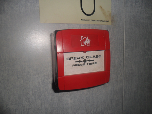 Two unit Break Glass  was found broken, need replacement.
