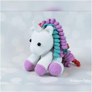 patron amigurumi Bebé unicornio amigurumi today
