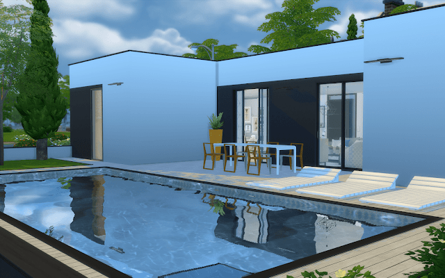 maison sims 4 avec piscine