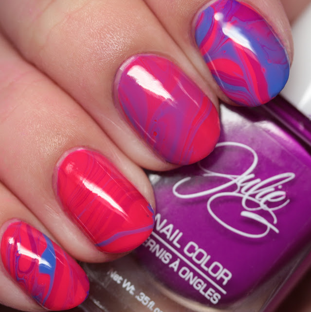 Julie G Nails Spring 2017 Pack 3 water marble