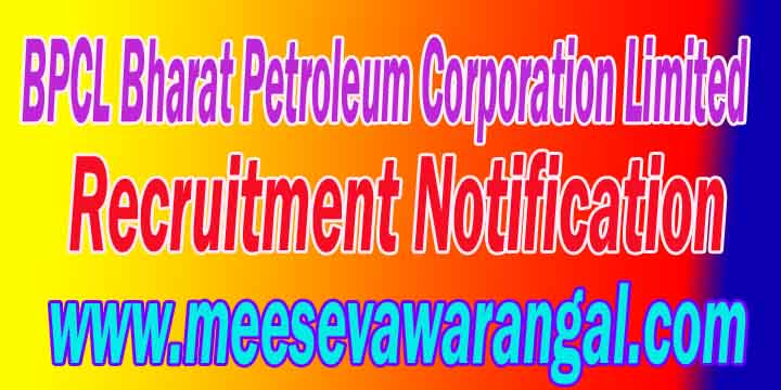 BPCL Bharat Petroleum Corporation Limited Recruitment 2016 Post Apply Online