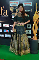 Ritika Singh in a Ethnic Deep Neck Dark Green Choli Ghagra at IIFA Utsavam Awards March 2017 ~ 009.JPG