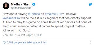 Real Me 3 Akan Bisa Memainkan Game Fornite !