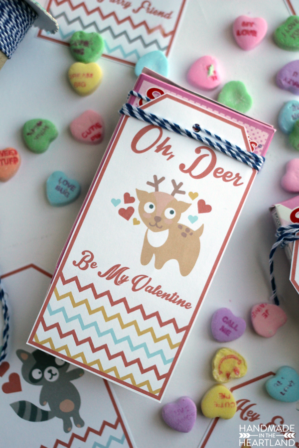 cute woodland animal valentines