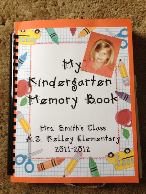 My Kindergarten Year Memory Book