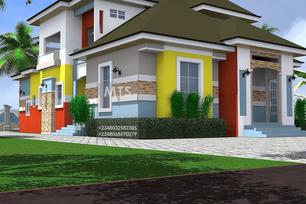 Mrs nneoma 3 bedroom pent house design residential homes for House design house design