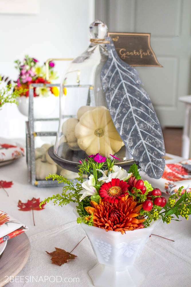 color fall tablescape