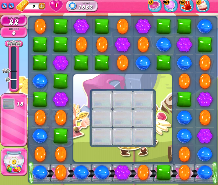 Candy Crush Saga 1662