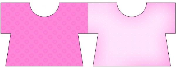 Tarjeta con forma de camisa de Corazones Rosa.