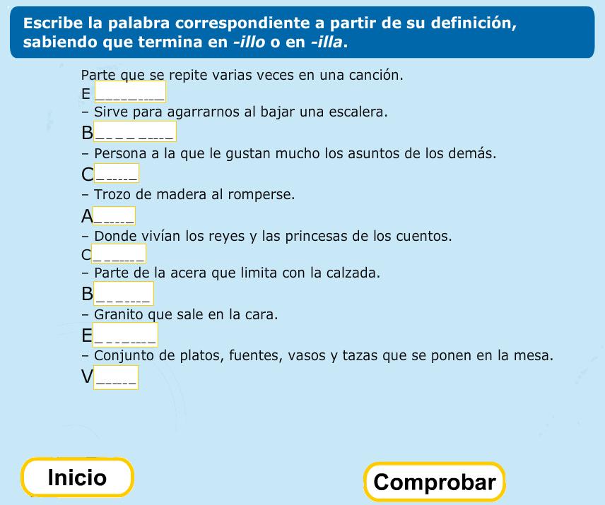 http://www.primerodecarlos.com/TERCERO_PRIMARIA/enero/Unidad_7/lengua/actividades/illo_illa/indice.swf