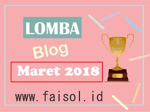 (UPDATE) Lomba Blog Maret 2018